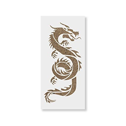 photograph regarding Chinese Dragon Printable known as Chinese Dragon Stencil Template for Partitions and Crafts - Reusable Stencils for Portray in just Very low Substantial Measurements