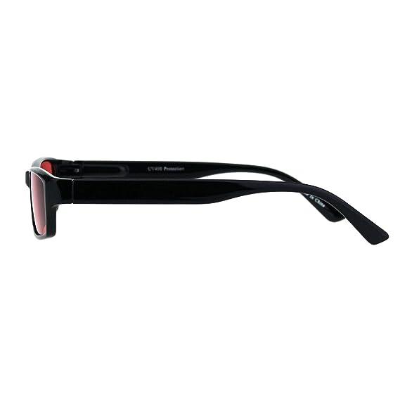 Amazon.com: Gafas de sol clásicas estrechas rectangulares ...