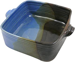 product image for American Made Stoneware Pottery 3-Quart Square Casserole Dish in Lakeside Blue