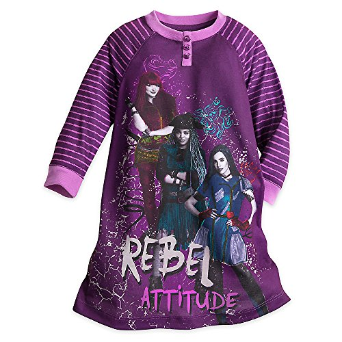 Disney Mal, Uma, and Evie Nightshirt for Kids - Descendants 2 Purple