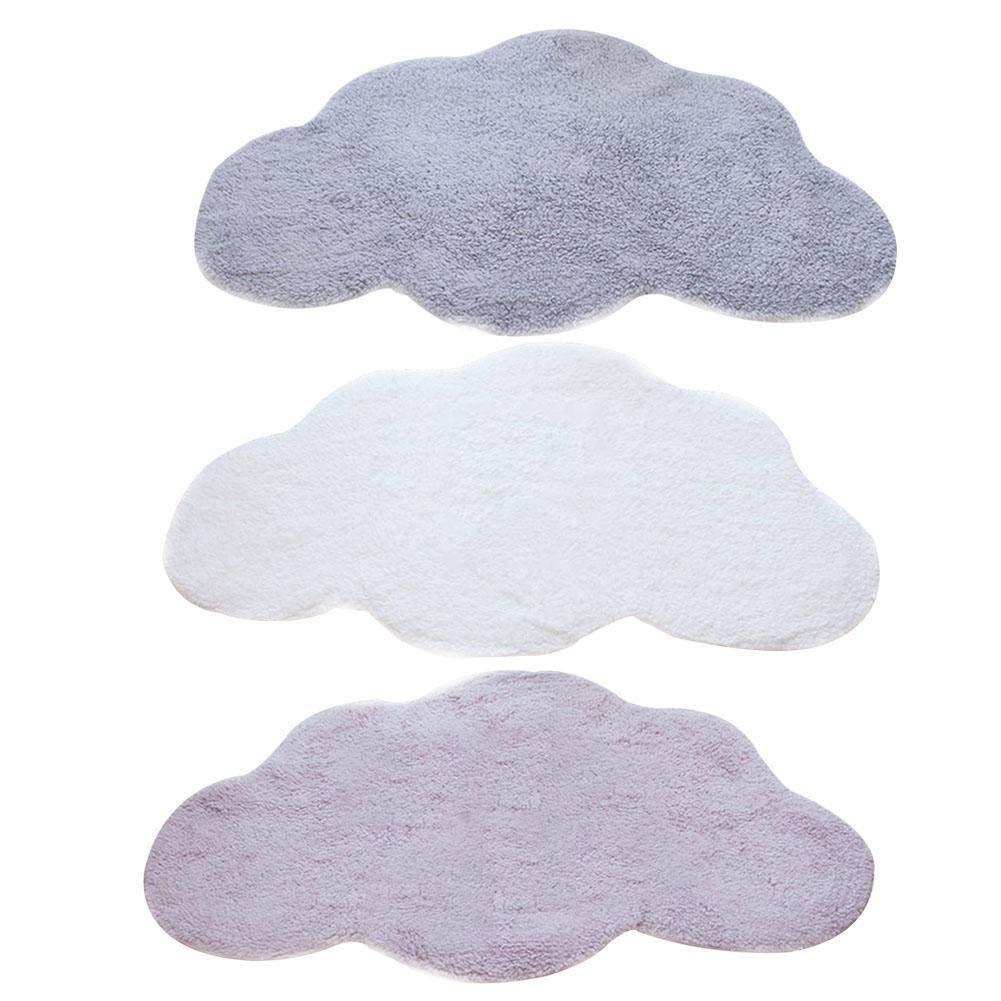 Tapis de jeu nordique en coton pour enfant en forme de nuage blanc