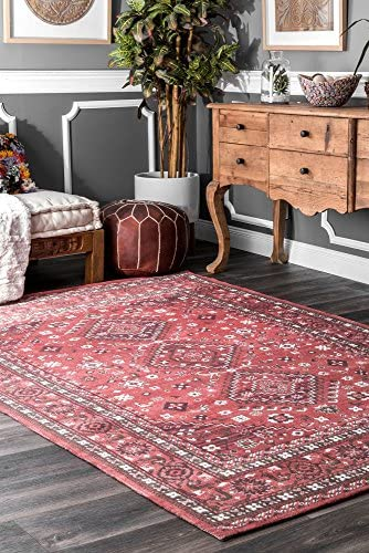 nuLOOM Daenerys Persian Area Rug, 5 x 8 , Red