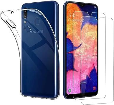 Funda + 2* Cristal Templado para Samsung Galaxy A20e,Ultra Fina ...