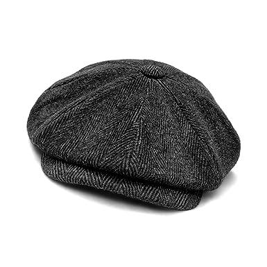 623601fa354 Xcoser Shelby Cosplay Hat Men Winter Beret Hat Cap Baker Boy Peaked Flat  Cap Accessories Wool