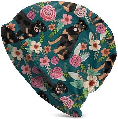 cvbnch Gorros de Punto Rottweiler Floral Dog Chemo Hat for Women ...