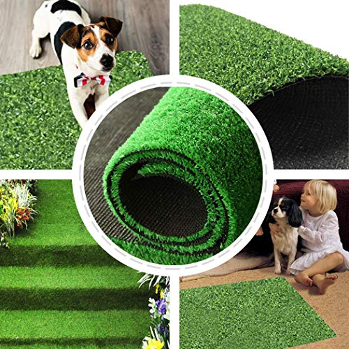 Kwan Artificial Grass Turf Training Pad Replacement for Pet Potty Toilet Trainer for Puppy Dog Pee Indoor Home (Large)