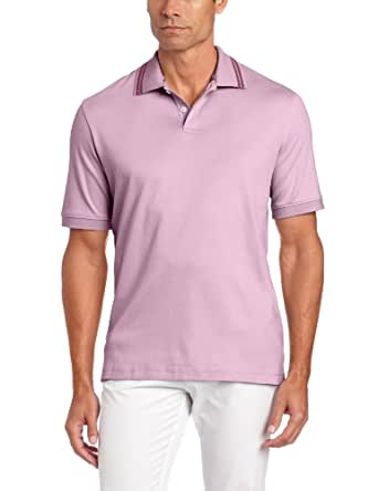Geoffrey Beene Men's Liquid Luxe Classic Fit Polo, Orchid Haze, Small