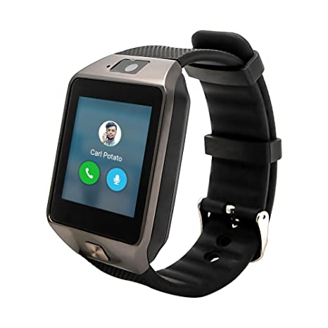 Reloj inteligente TOP-MAX DZ09, conexión bluetooth, color negro, con ranura para