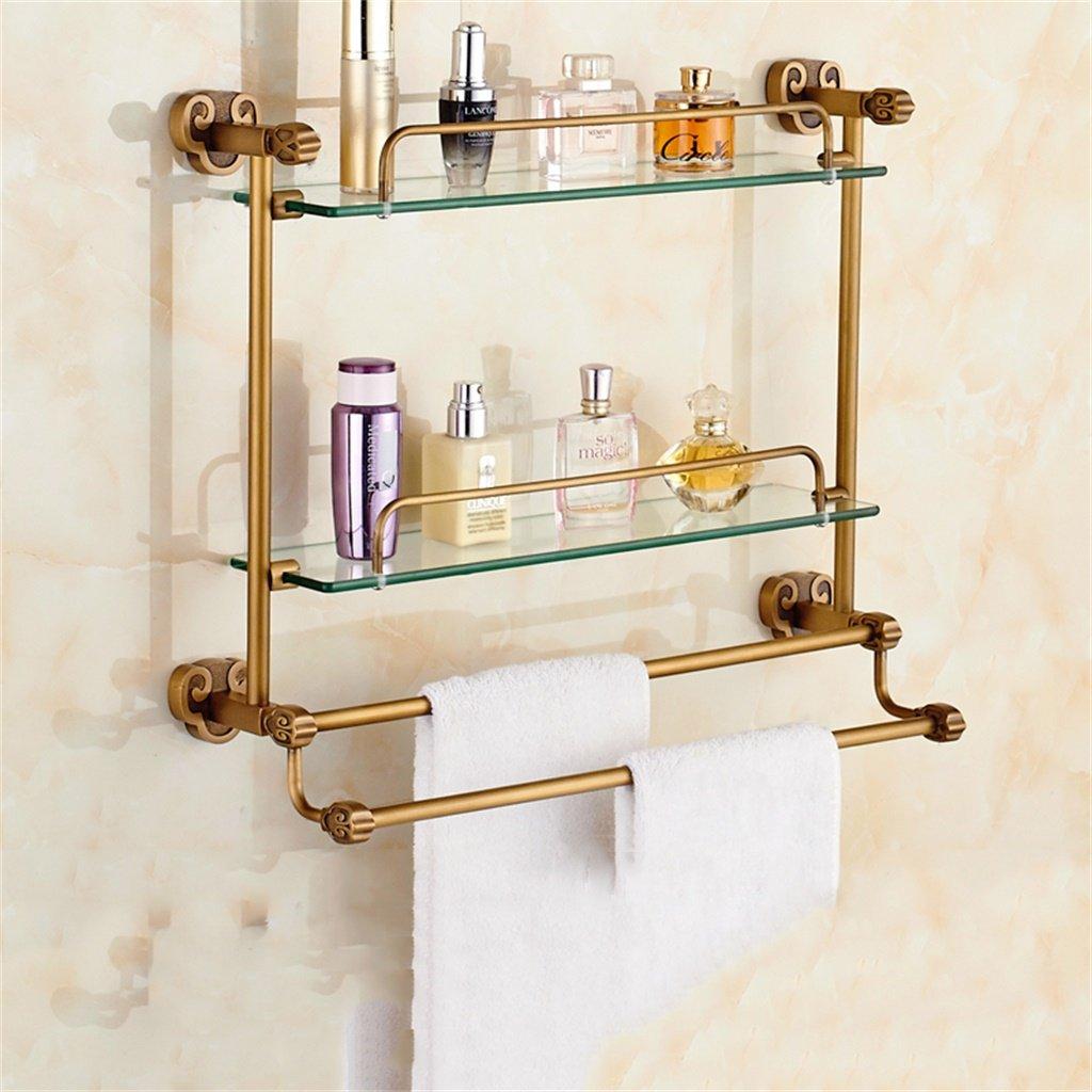 ALUP模造古代ガラスバスルーム棚バスルームトイレ棚ドレッシングテーブルタオルラック (サイズ さいず : 48*46cm) B07D5B1713 48*46cm 48*46cm