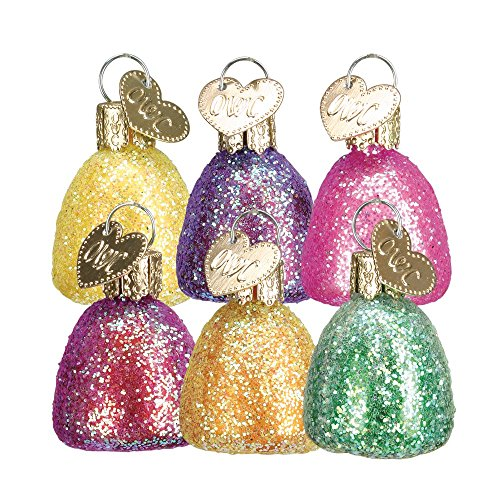 Old World Christmas Assorted Gum Drop Ornaments, Set of 6 #32090
