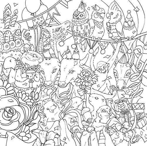 物語のある美しい塗り絵 ハッピーバースデー 大人の塗り絵シリーズ