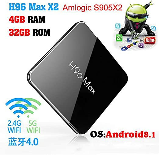 Android TV Box 8,1, DDR4 4G 32G H96 MAX x2 4GB DDR4 32GB Android 8,