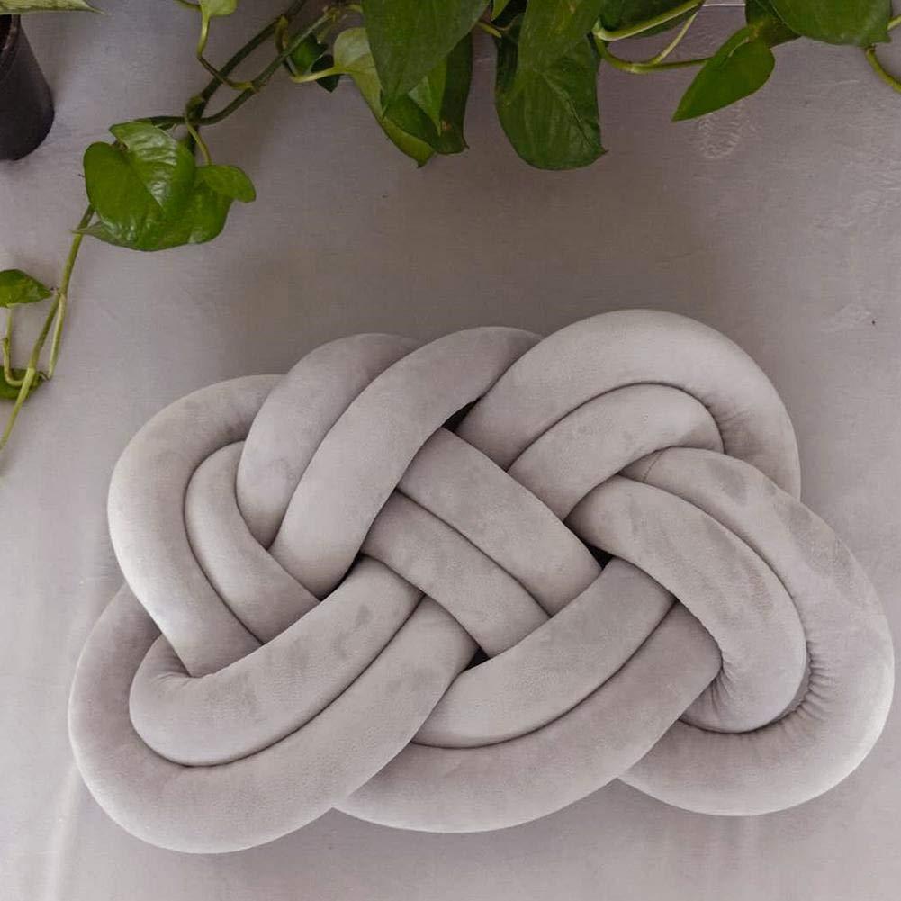 Coj/ín de almohada para el hogar decorativo suave para decoraci/ón del hogar y la oficina de felpa dise/ño de bola de nudo