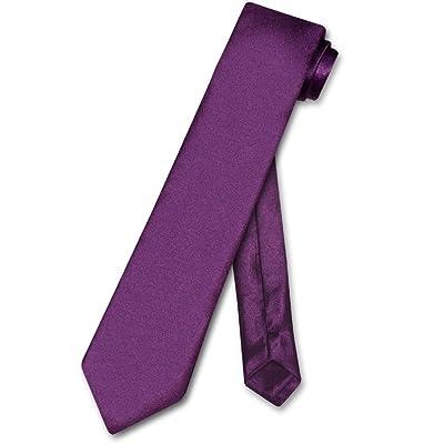 Biagio BOY'S NeckTie Solid EGGPLANT PURPLE Color Youth Neck Tie