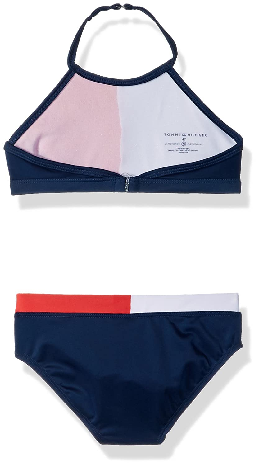 1cedfd7116 Amazon.com: Tommy Hilfiger Girls' Two-Piece Swimsuit: Clothing