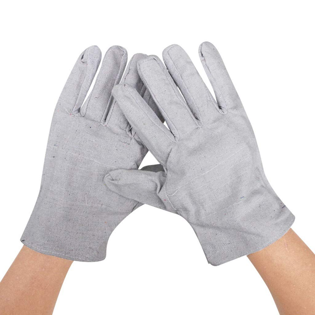 Oven Mitts Heat Resistant Industrial Gloves, Double-layer Canvas Thick Wear-resistant Protective Welding Five-finger Gloves, Suitable for Outdoor, Construction, Oven, 10 Pairs Heat Resistant Bbq Cooki