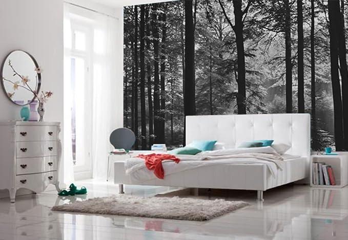 """12/' x 8/' 4/"""" Large papier peint papier peint 366x254cm avalon forêt noir /& blanc"""