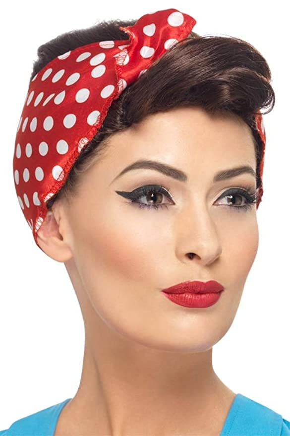1940s Hairstyles- History of Women's Hairstyles 40s Rosie Wig with Headscarf $20.60 AT vintagedancer.com