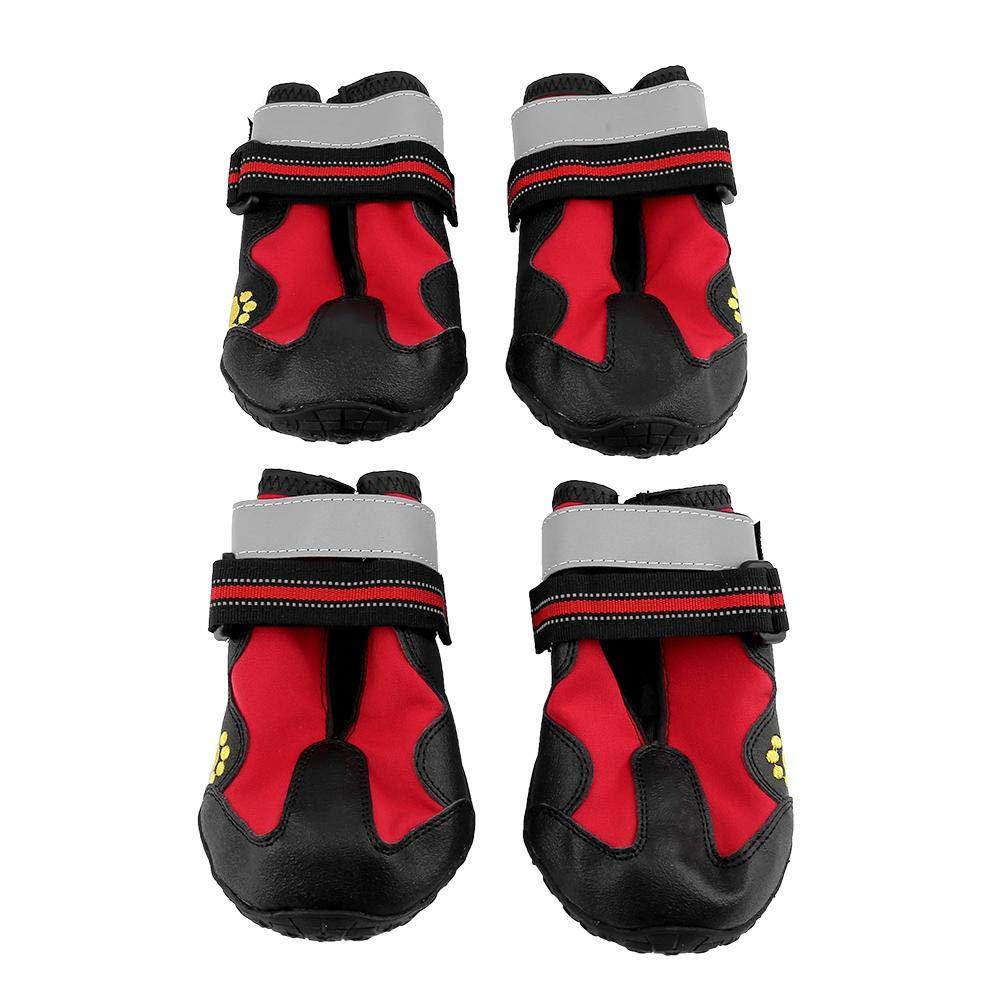 Haofy 4Pcs Scarpe da Cane Stivali Impermeabili con Velcro Riflettente e  Suola Antiscivolo Robusta 2d8d5905508