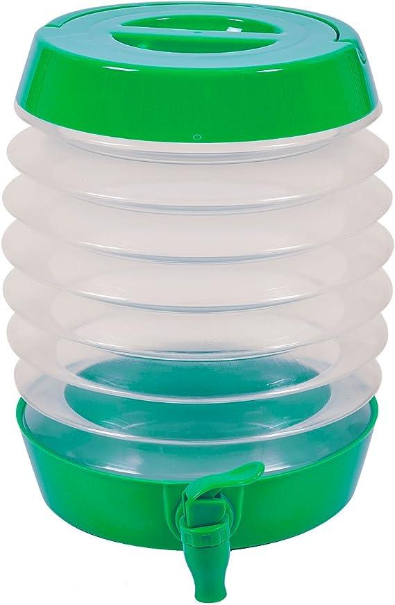 Anilar - Dispensador de Bebidas Plegable DE 5,5 litros con Soporte para Camping, Senderismo, Varios Colores (Azul, Verde y Rojo)