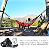 INTEY Hammock Straps XL, 24 Ft Long, 2200 LBS Breaking Strength, No Stretch Polyester (Set of 2)