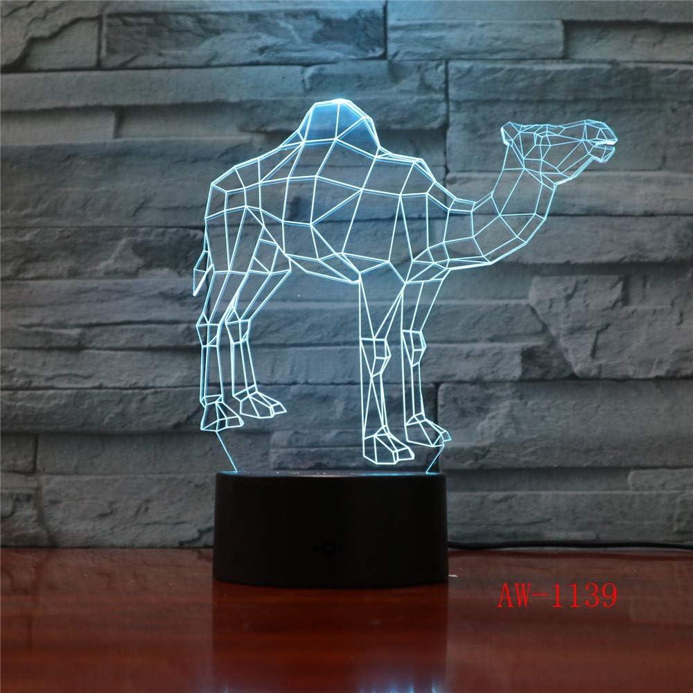 Luces de ilusión Visual Bulldog Poodle Jack Russell Terrier Rottweiler Doberman LED Luz de Noche para niños Luz de Escritorio para Perros 7 Regulador