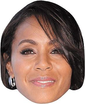 Jada Pinkett Smith Short Hair Celebrity Mask Flat Card Face Fancy Dress Mask Amazon Co Uk Toys Games