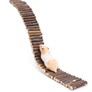Niteangel Hamster Suspension Bridge Toy: Long Climbing Ladder for Dwarf Syrian Hamster Mice Mouse Gerbils and Other Small Animals