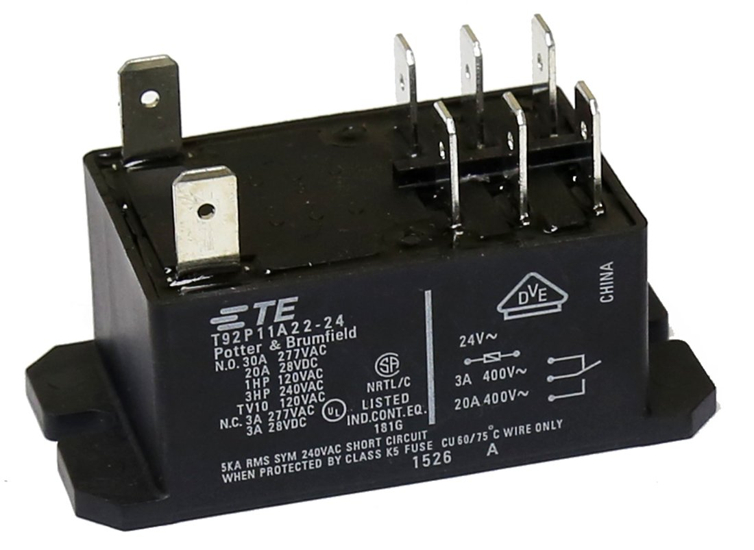 TE CONNECTIVITY / POTTER & BRUMFIELD T92P11A22-24 POWER RELAY, DPDT, 24VAC,  30A, PANEL: Amazon.com: Industrial & Scientific