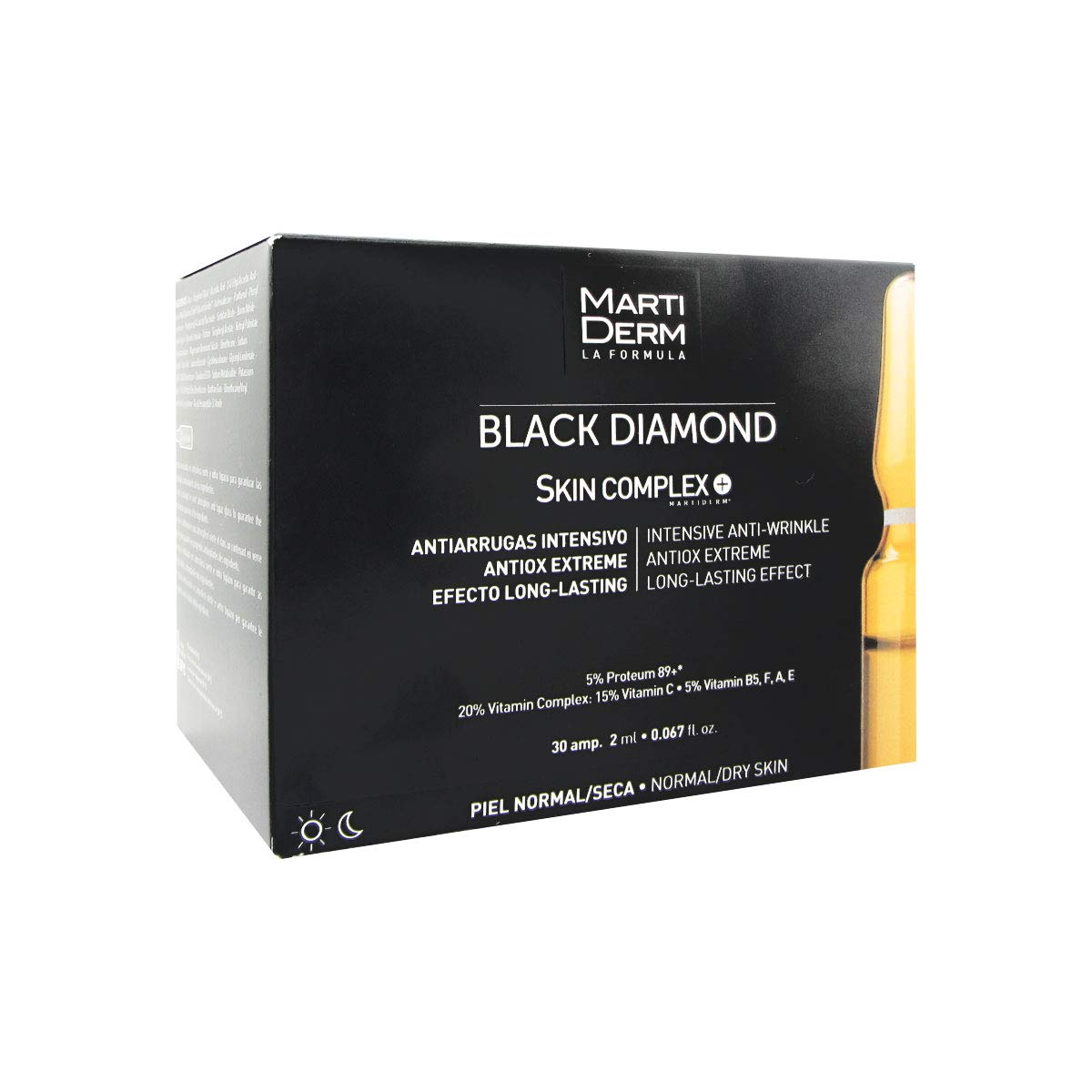 MARTIDERM Black Diamond Skin Complex 30 Ampollas x 2ML NEW!!! 185980