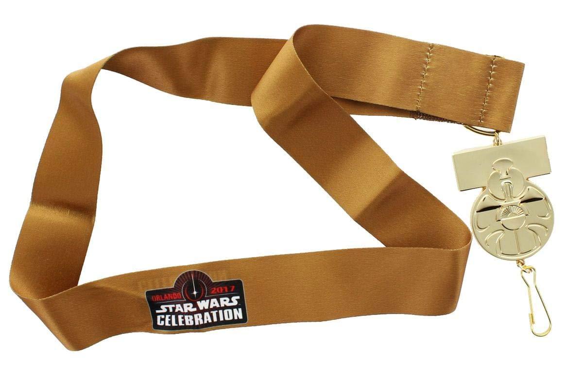 Ahorre 60% de descuento y envío rápido a todo el mundo. Estrella Wars Celebration 40th Anniversary Yavin Medal Replica Lanyard Lanyard Lanyard  hasta 42% de descuento