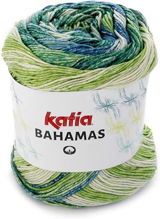 Algodón BAHAMAS, Katia 60, color verde, 60 Vert, 3.5: Amazon.es: Amazon.es