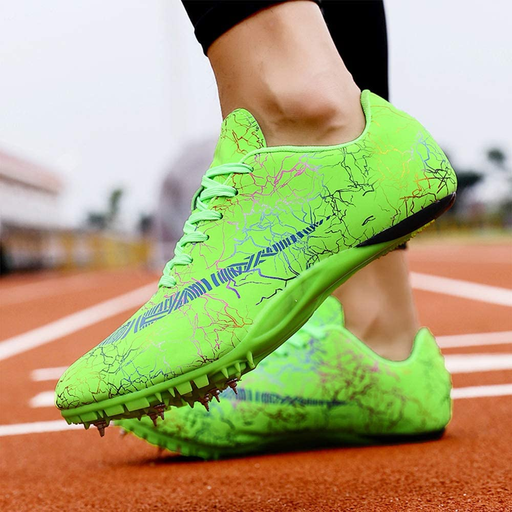 ZRSH 8 Clavos Spikes Zapatos Atletismo Zapatos Hombre De Atletismo Ligero Seguro De Usar Clavos Zapatillas De Deporte Masculino En Forma Hombres Libre Corriendo Competencia