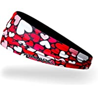 Athlarel Headband- 2 in 1 Reversible No Slip Sweatband & Sports Headbands for Outdoor Exercise, Fashion Style, Yoga or Travel, Technical Fabric