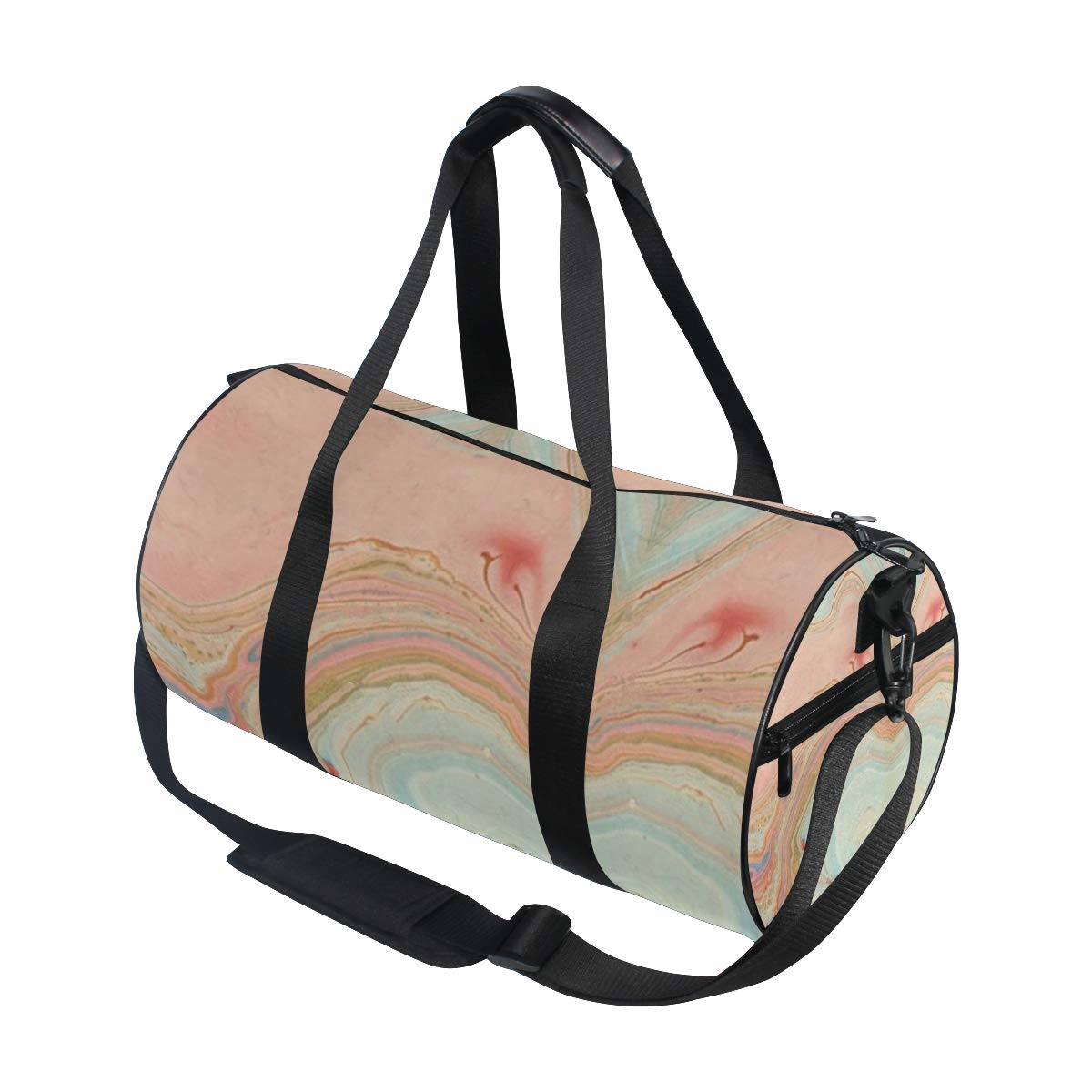 suitable for men and women. non-slip wearable handbag crossbody bag Peach Marble SwirlPopular casual fitness bag sports bag