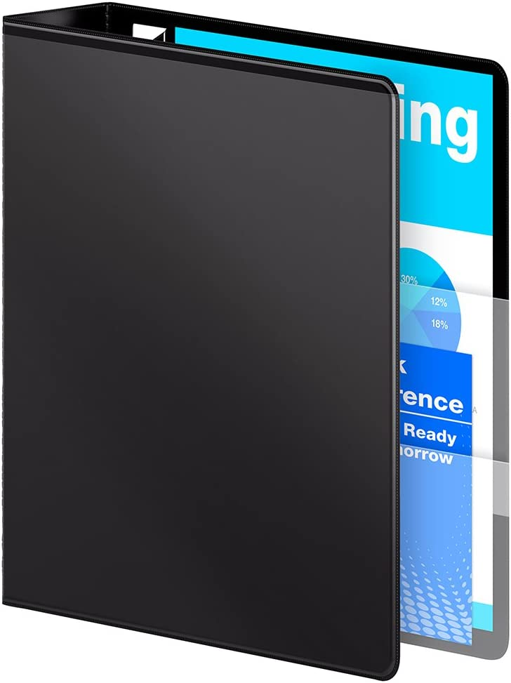 W86611 Black 1-Inch Wilson Jones Ultra Duty D-Ring View Binder with Extra Durable Hinge