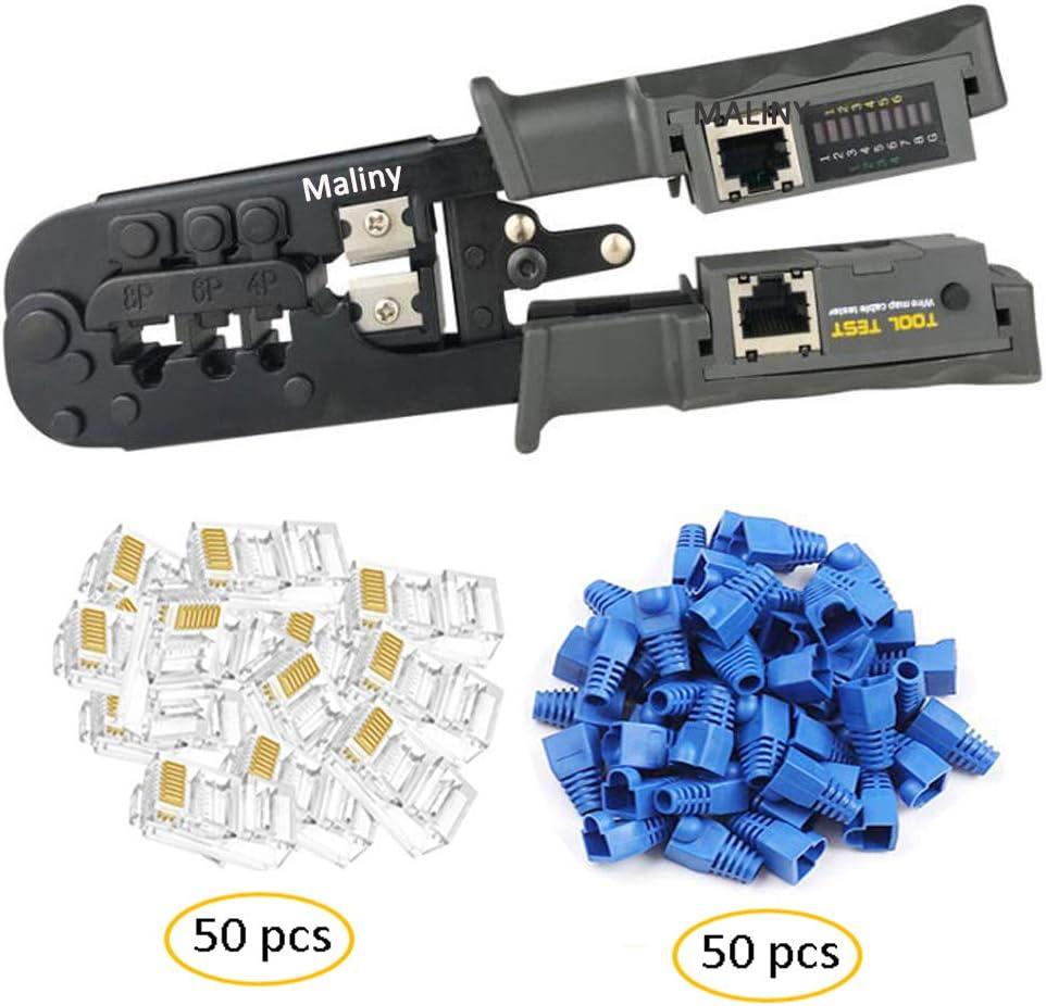 LUBEIN Kit doutils de sertissage RJ45 pour RJ11//RJ12//CAT5//CAT6//Cat5e professionnel dentretien de lordinateur testeur de c/âble LAN Kit doutils de r/éparation de r/éseau