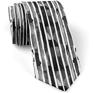 Bauhaus negro blanco geométrico flaco delgado corbata de moda para ...