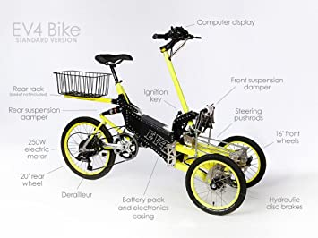 "Eléctrico bicicleta EV4 plegable bicicleta 16 ""36 V Li-Ion recargable ACS modo"