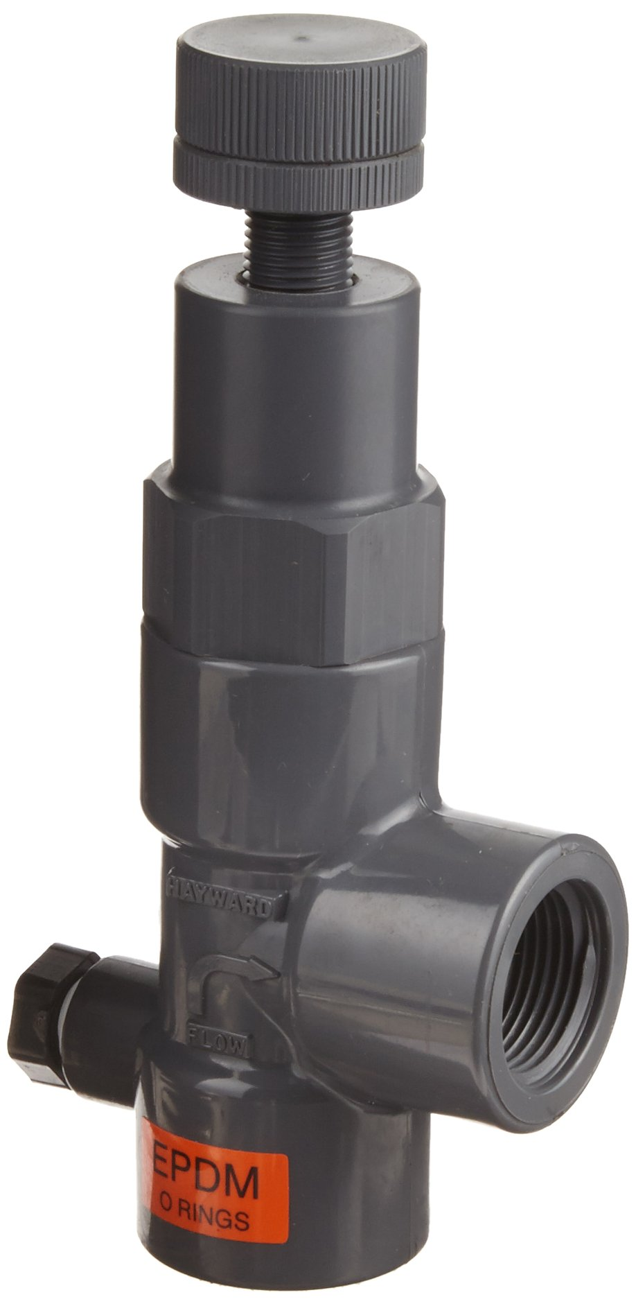 Hayward RV1075TE Series RV Pressure Relief Valve, PVC with EPDM Seals, Threaded End, 3/4'' Size