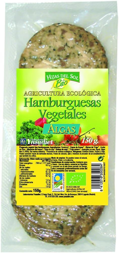 Hijas Del Sol Bio Hamburguesa Vegetal Algas - Paquete de 2 x ...