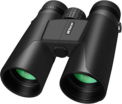 Whew Binoculars for Adults,10×42 Compact HD Binoculars with Low Light Night Vision for Bird Watching Hunting Hiking Travel Stargazing Concerts Sports, BAK4 Prism FMC Lens with Strap Carrying Bag