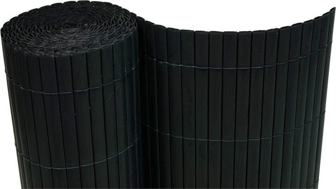 PVC Sichtschutzmatte 200x1000 cm schwarz
