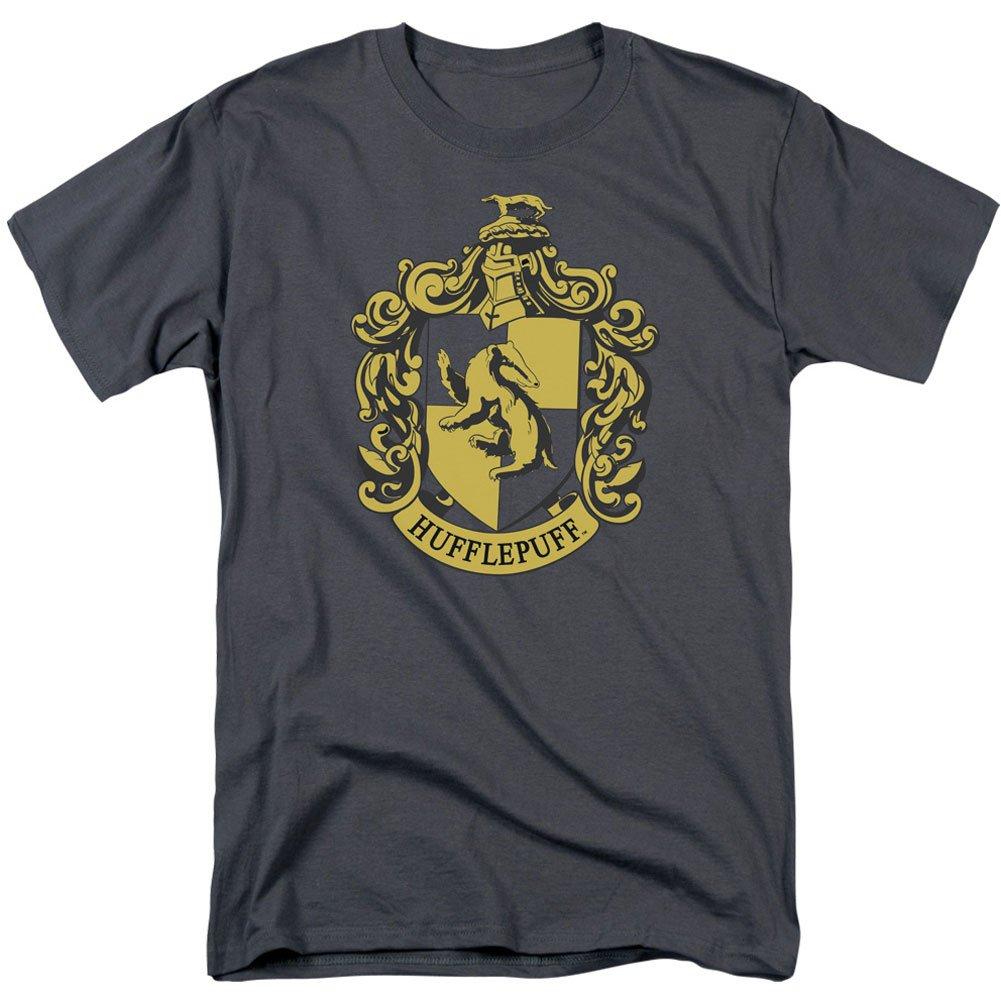 Harry Potter S Hufflepuff Crest Tshirt Charcoal