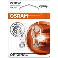 Osram Original Equipment quality W16W-921-02B  bulbs in a twin blister pack - Transparent