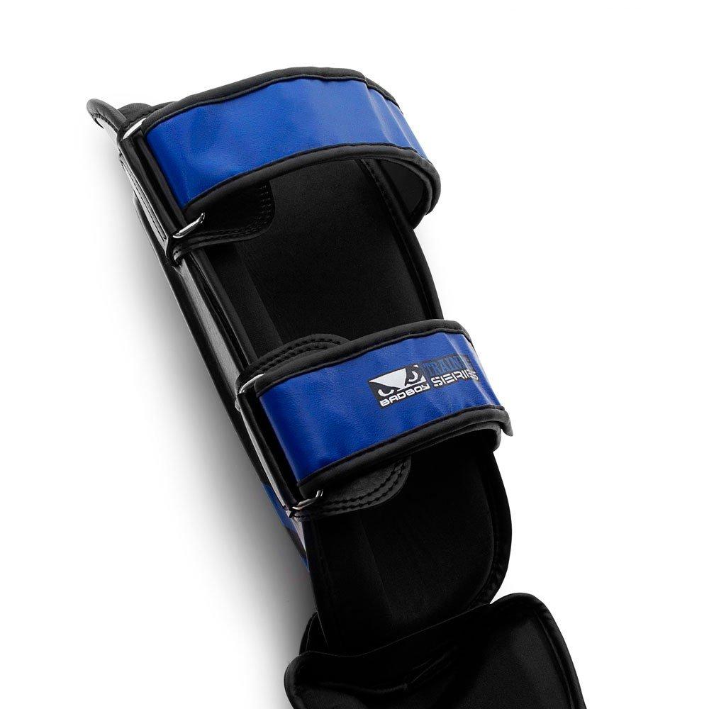 Black//Blue Kampfsport Muay Thai Thaiboxen MMA Kickboxen Schienbeinsch/ützer Schienbeinschoner Sparring Bad Boy Schienbeinsch/ützer Training Series Impact