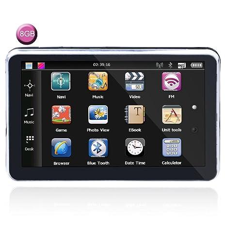 7 Pulgada LCD Toque Pantalla Coche GPS Navegación NAVEGACIÓN POR SATÉLITE Alto Definición Alto Precisión Impermeable ...