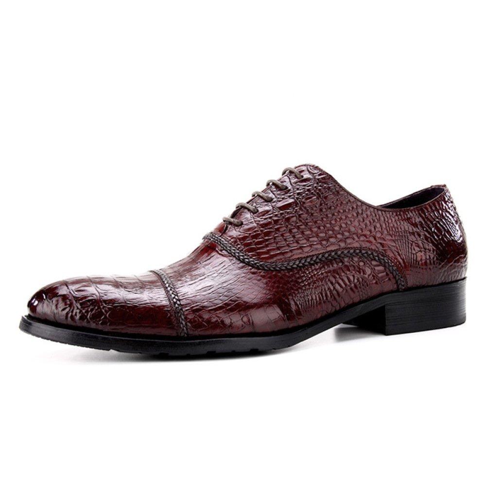 DHFUD Die Schuhe Männer Der Männer Schuhe des Krokodil-Geschäftsanzugleder-Veloursleder-Männer 259fa4
