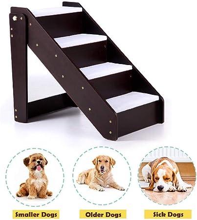 Esponja Escalera para Mascotas Gato/Perro Escaleras para Mascotas De 4 Pasos Pasos para Perros De Madera Maciza Escalera De Actividades De Escalada Rampas para Mascotas 63x46x59cm: Amazon.es: Productos para mascotas