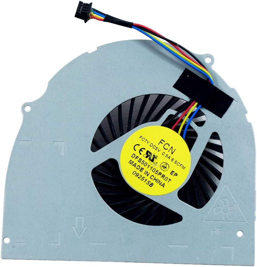 Rangale Replacement CPU Cooling Fan Compatible for Dell Latitude E6540 Precision M2800 Series Laptop 072XRJ CN-072XRJ 4-Pins